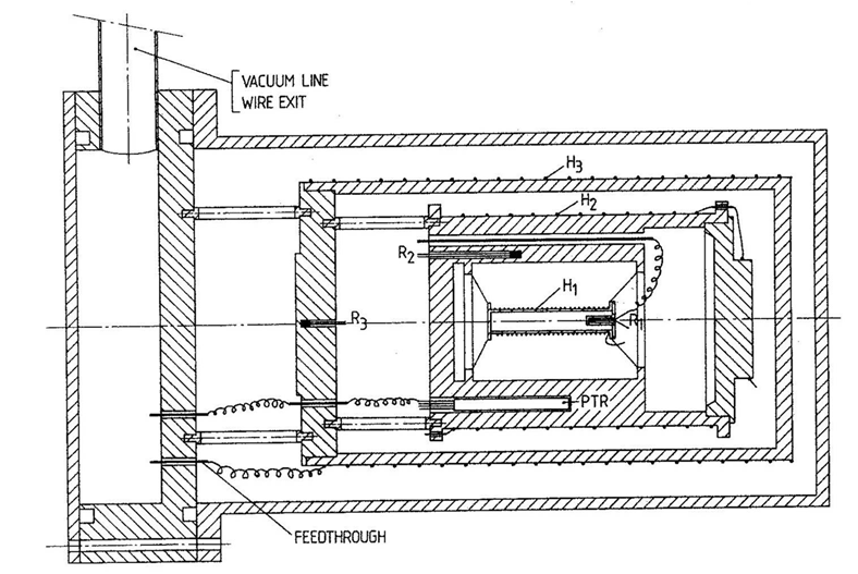 Construction drawing of an old ASC calorimeter model